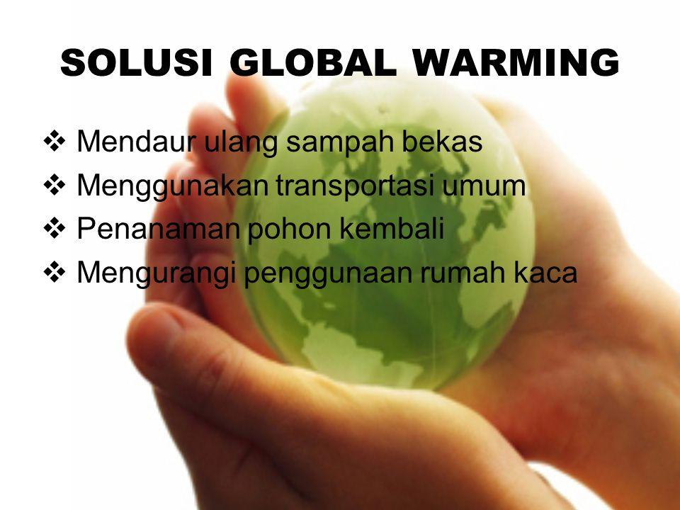 SOLUSI GLOBAL WARMING Mendaur ulang sampah bekas