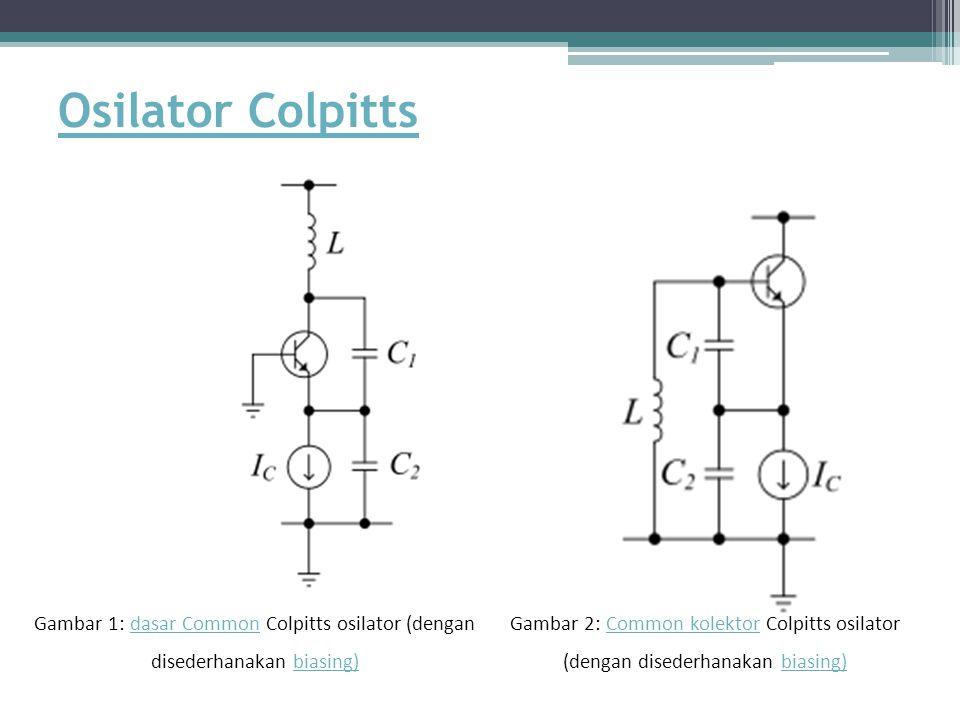 Osilator Colpitts Gambar 1: dasar Common Colpitts osilator (dengan disederhanakan biasing)