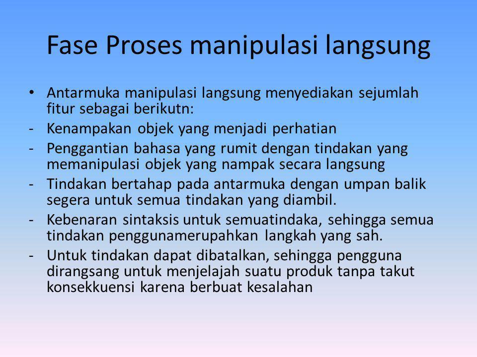 Fase Proses manipulasi langsung