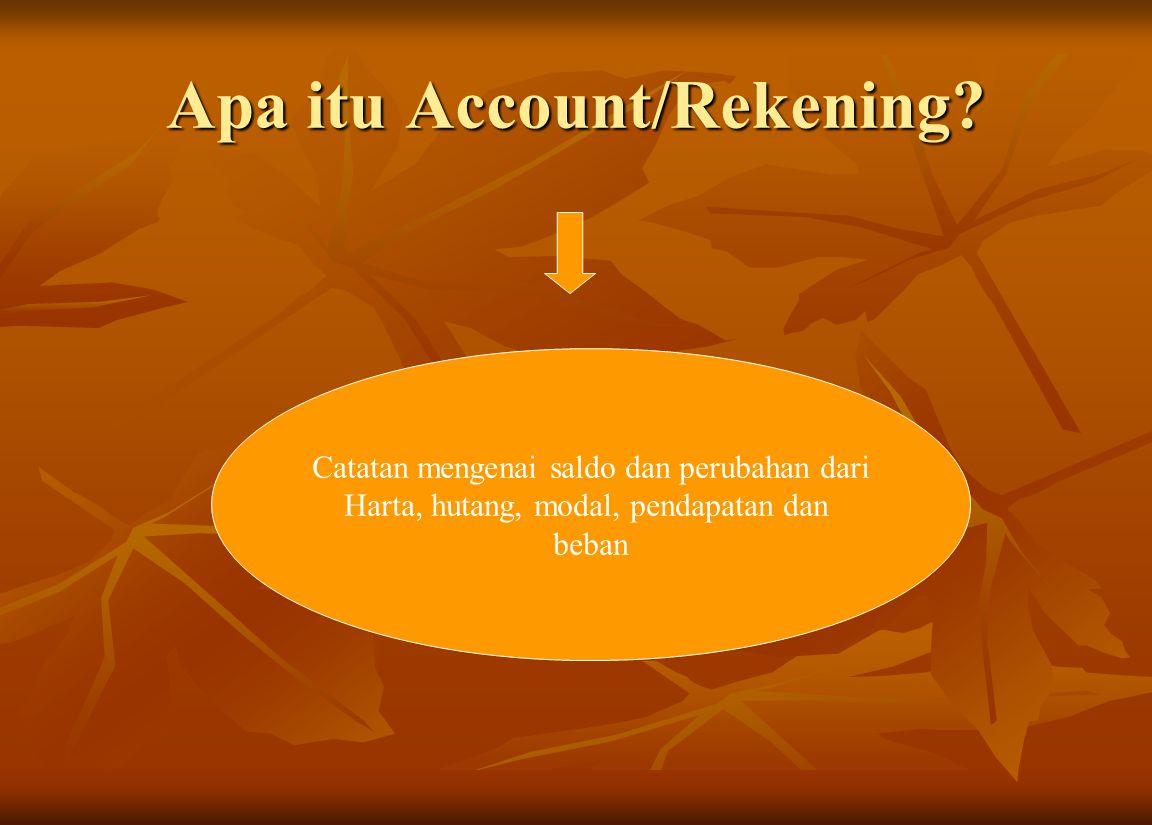 Apa itu Account/Rekening