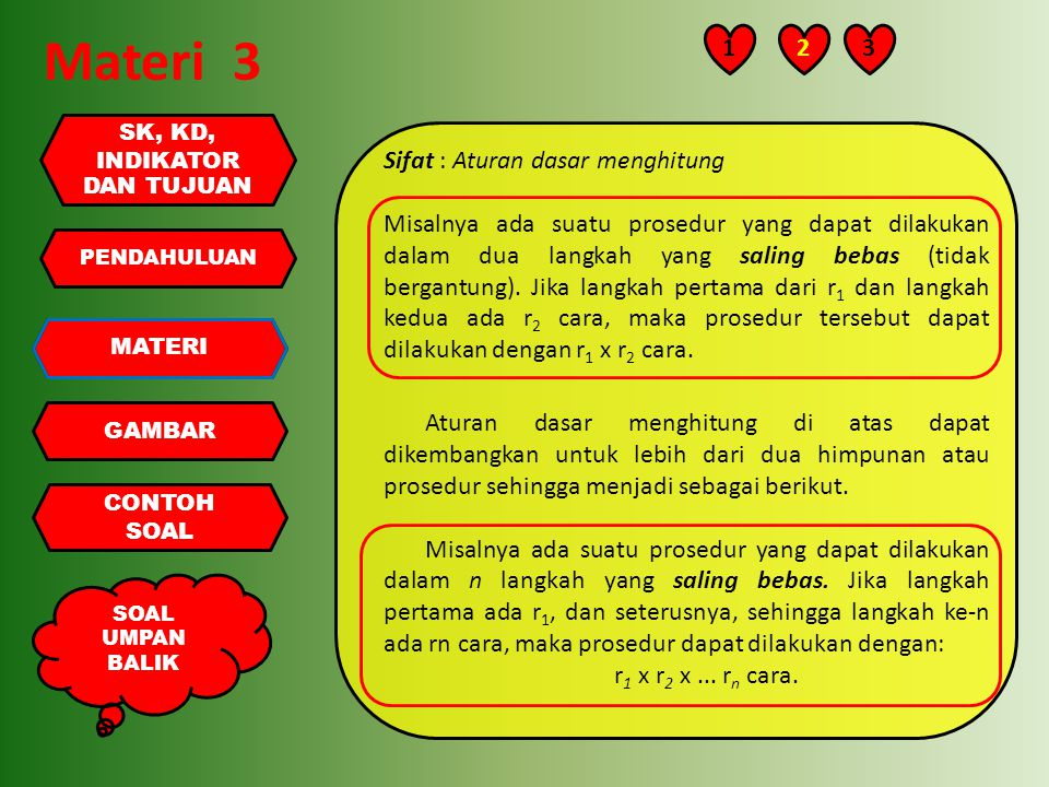 Materi 3 1 2 3 Sifat : Aturan dasar menghitung