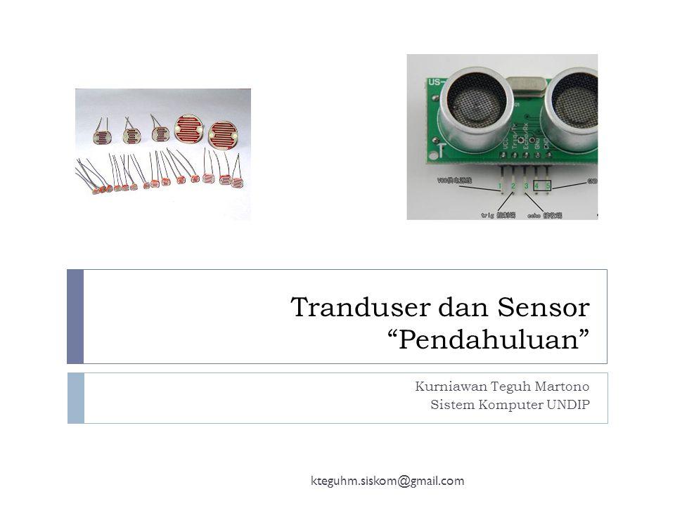 Tranduser dan Sensor Pendahuluan