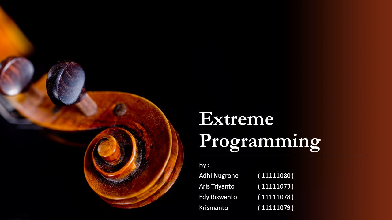 Extreme Programming By : Adhi Nugroho ( 11111080 )