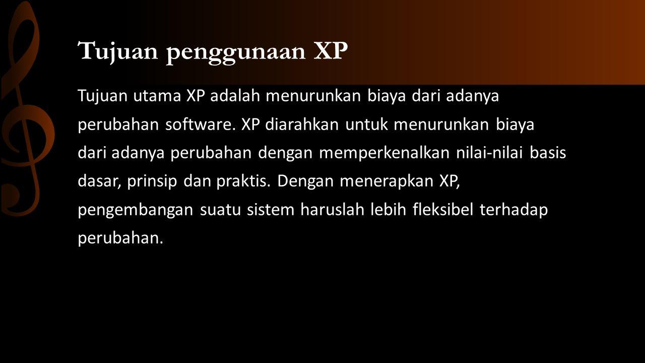 Tujuan penggunaan XP