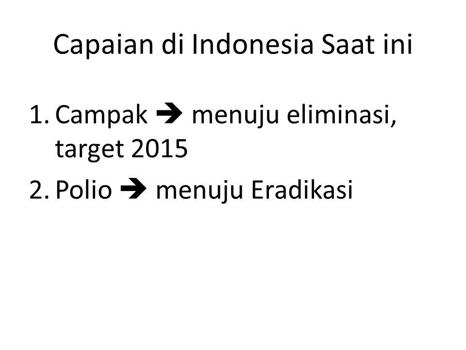 Capaian di Indonesia Saat ini