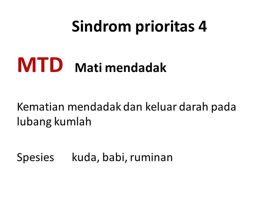 MTD Mati mendadak Sindrom prioritas 4