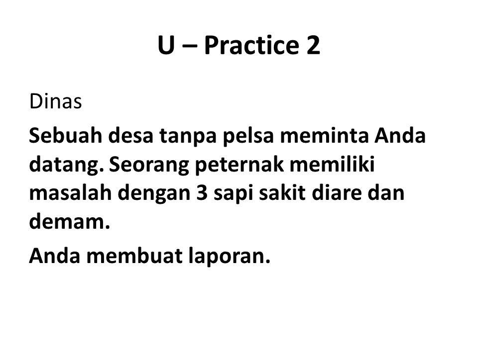 U – Practice 2