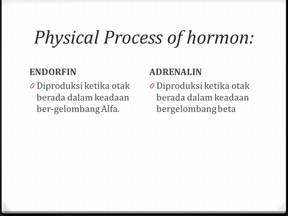 Physical Process of hormon: