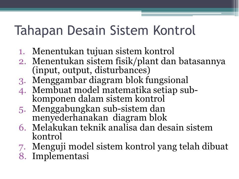 Tahapan Desain Sistem Kontrol
