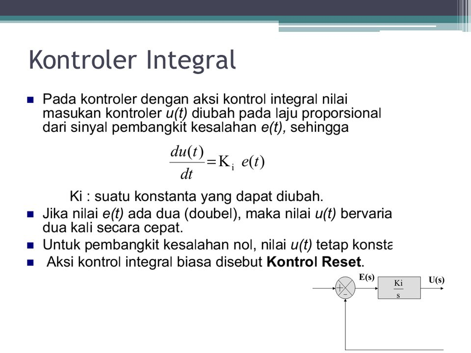 Kontroler Integral