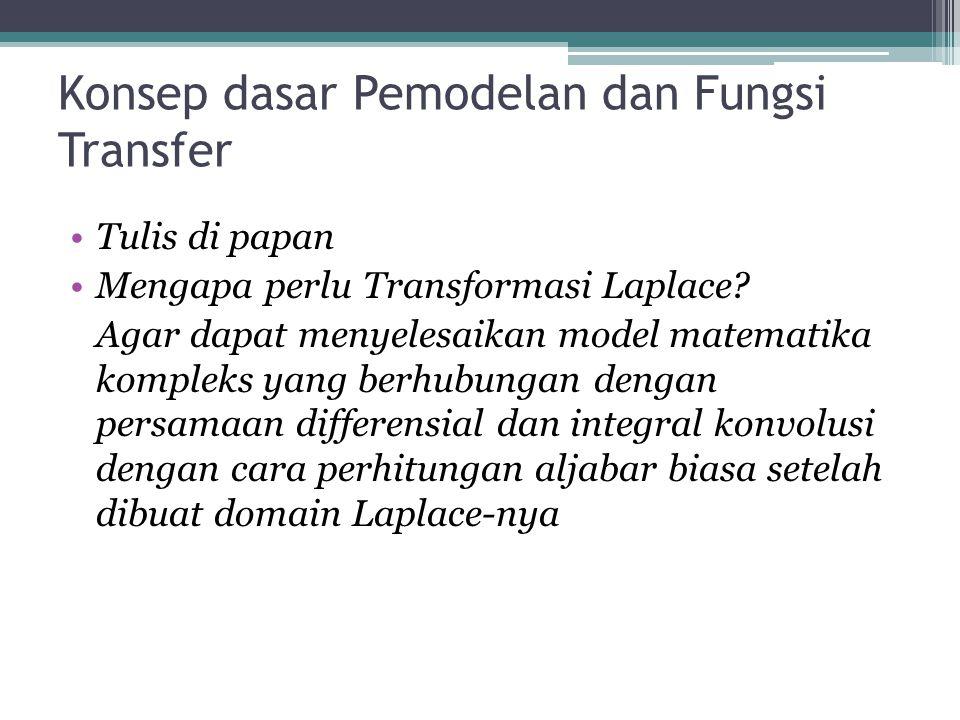 Konsep dasar Pemodelan dan Fungsi Transfer