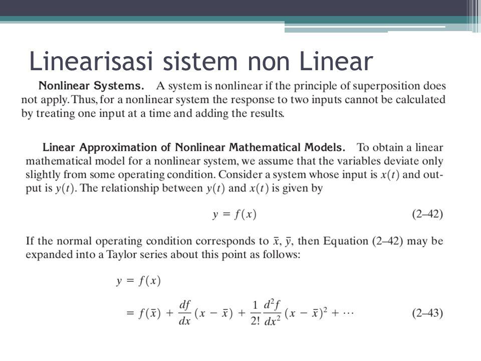 Linearisasi sistem non Linear