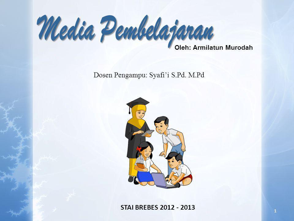 Media Pembelajaran Dosen Pengampu: Syafi'i S.Pd. M.Pd