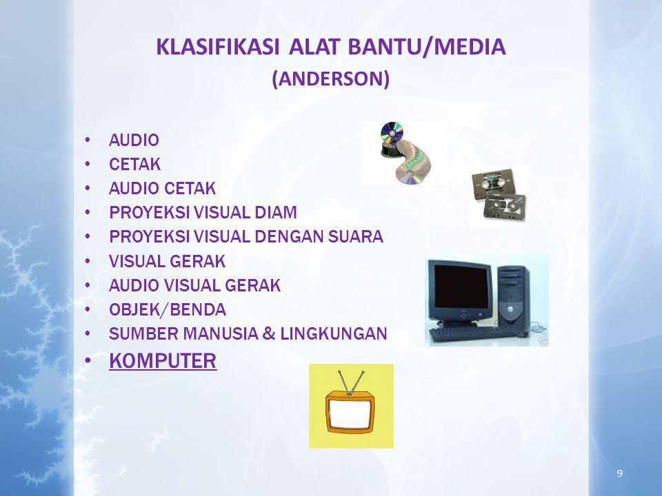 KLASIFIKASI ALAT BANTU/MEDIA (ANDERSON)