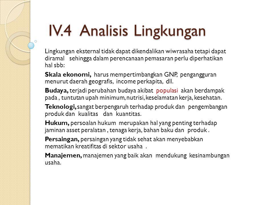 IV.4 Analisis Lingkungan