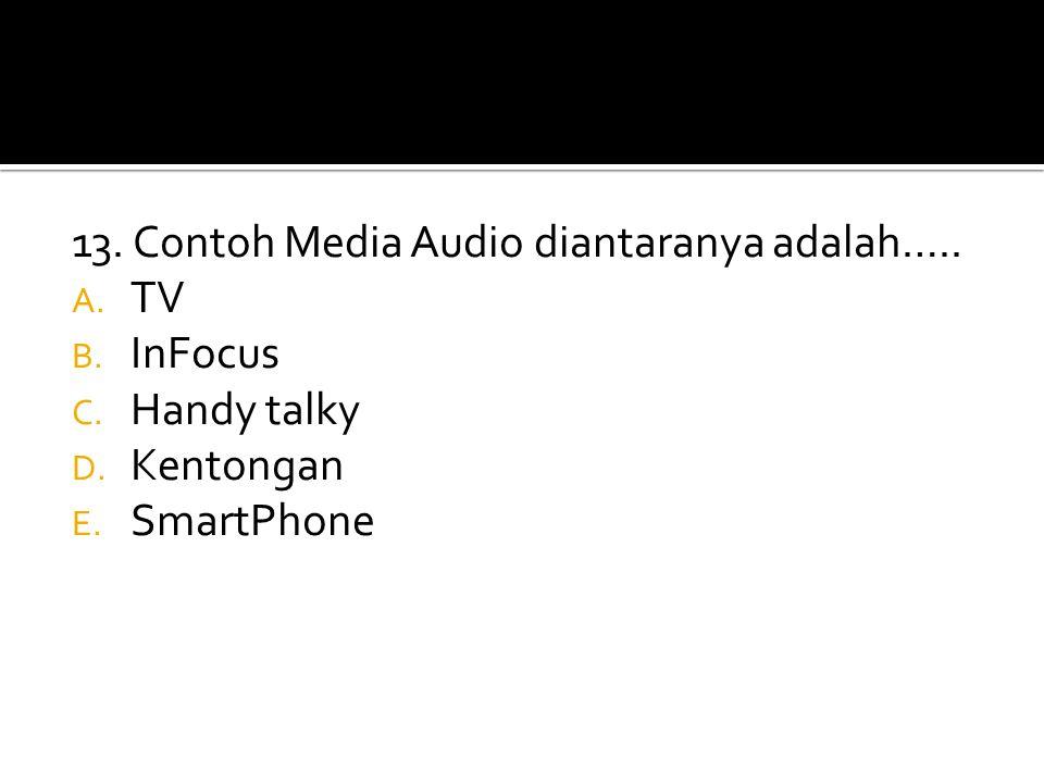 13. Contoh Media Audio diantaranya adalah…..