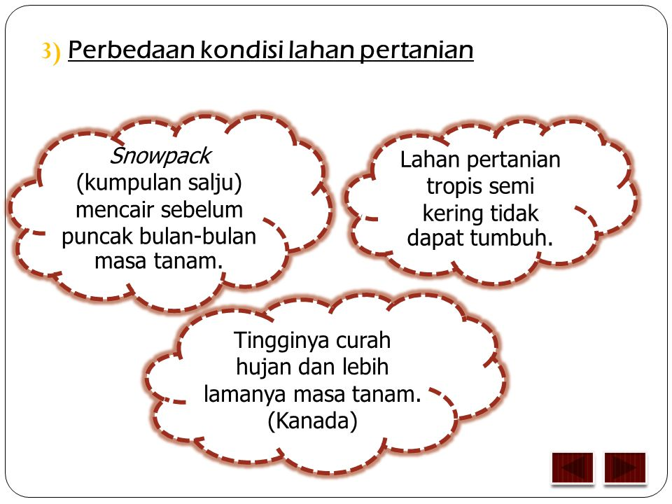 3) Perbedaan kondisi lahan pertanian