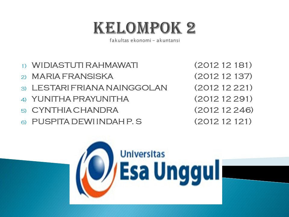 KELOMPOK 2 fakultas ekonomi - akuntansi