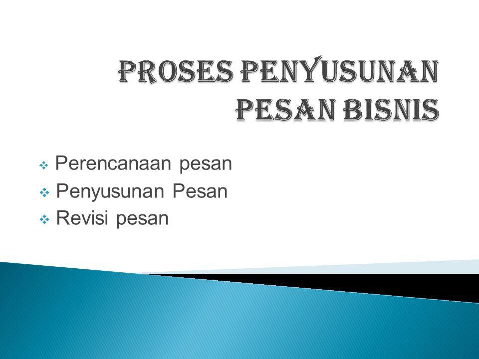Proses Penyusunan Pesan Bisnis