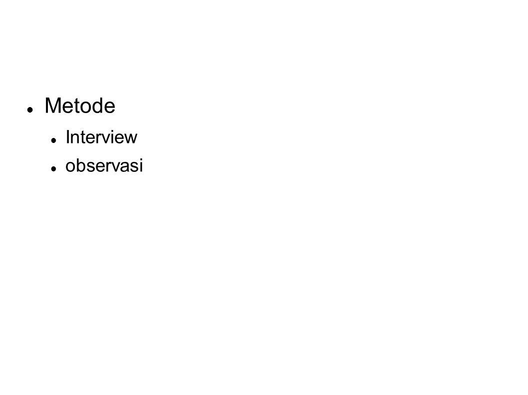 Metode Interview observasi