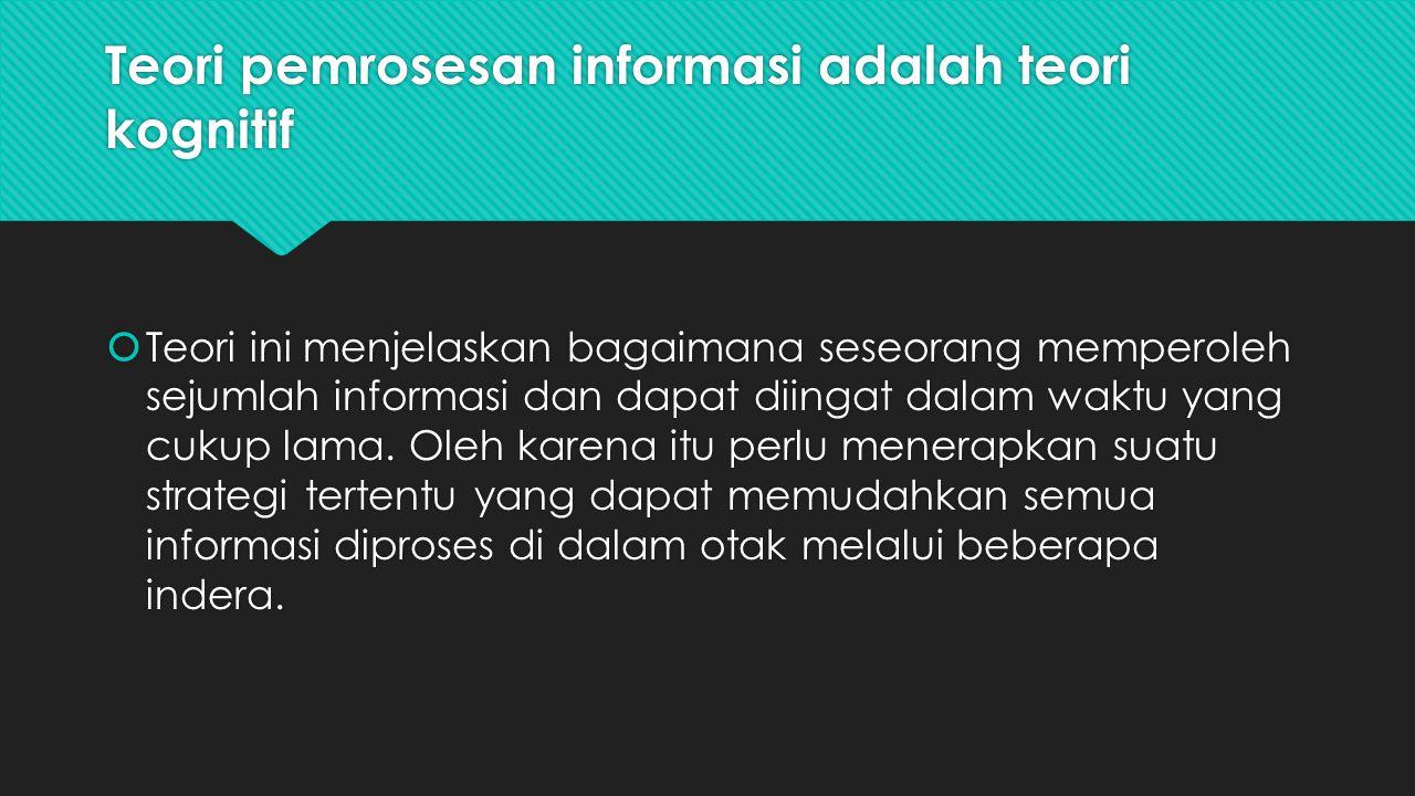 Teori pemrosesan informasi adalah teori kognitif