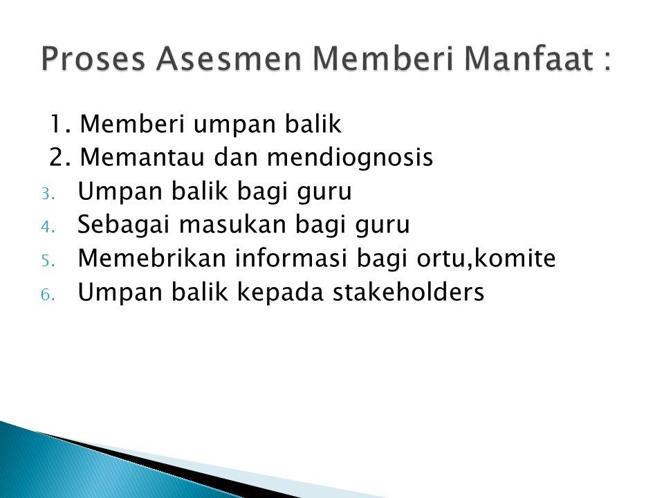 Proses Asesmen Memberi Manfaat :