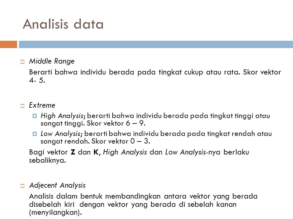 Analisis data Middle Range