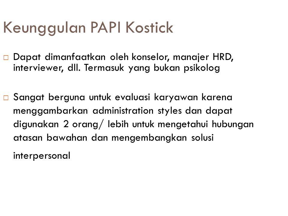 Keunggulan PAPI Kostick