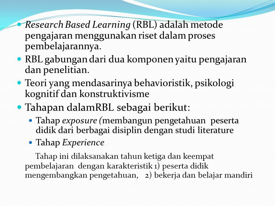 Tahapan dalamRBL sebagai berikut:
