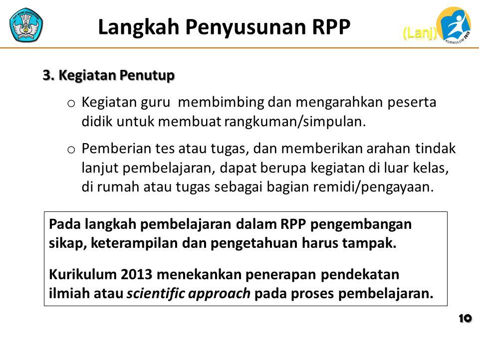 Langkah Penyusunan RPP