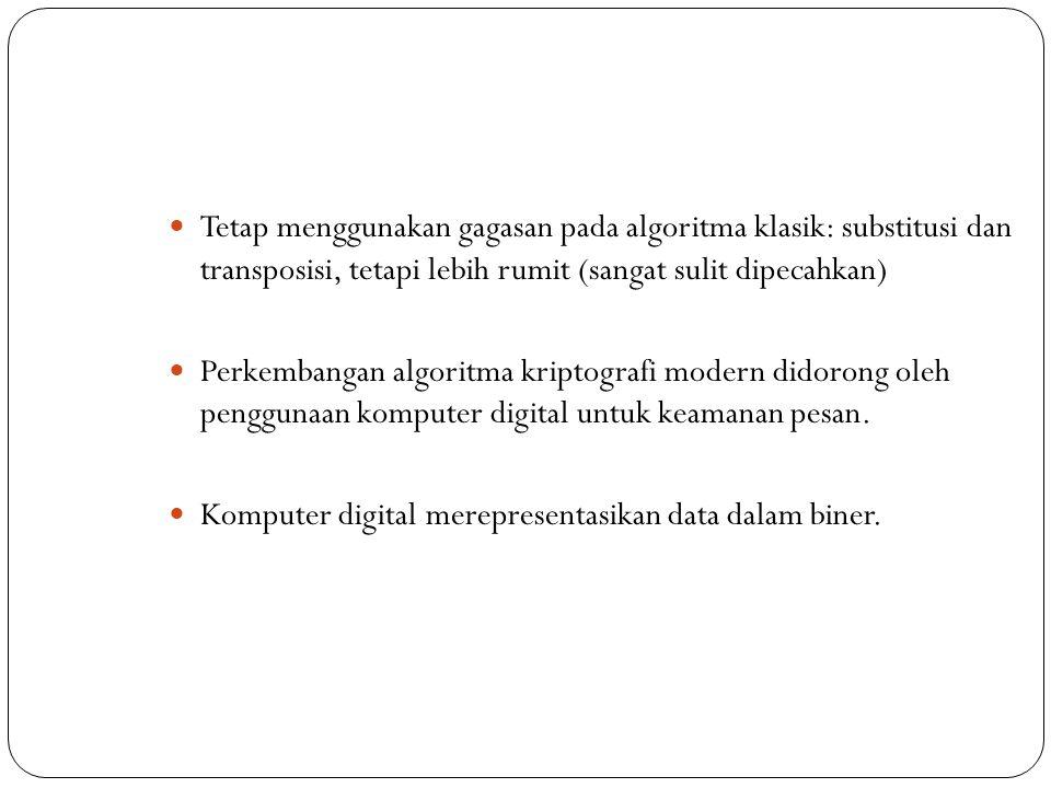 Tetap menggunakan gagasan pada algoritma klasik: substitusi dan transposisi, tetapi lebih rumit (sangat sulit dipecahkan)