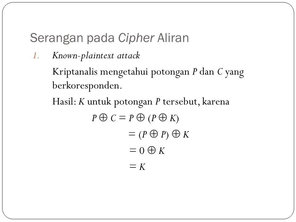 Serangan pada Cipher Aliran