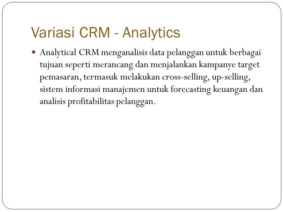 Variasi CRM - Analytics