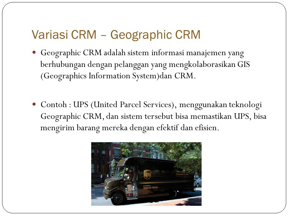 Variasi CRM – Geographic CRM