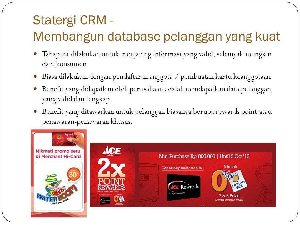 Statergi CRM - Membangun database pelanggan yang kuat