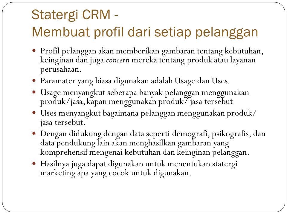 Statergi CRM - Membuat profil dari setiap pelanggan