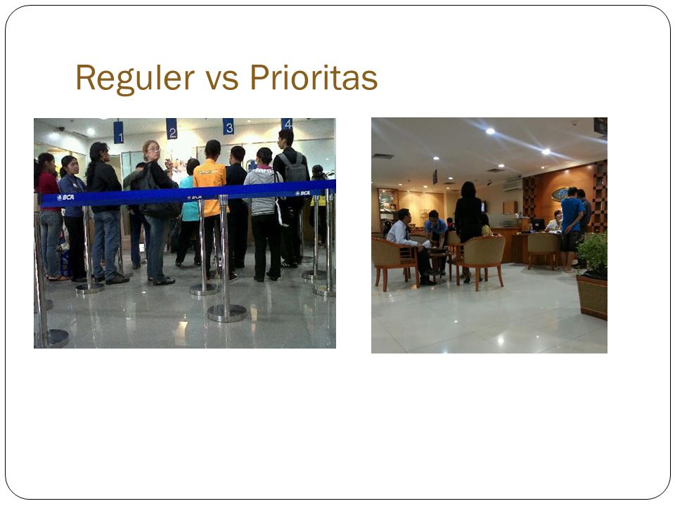 Reguler vs Prioritas (N:ES)