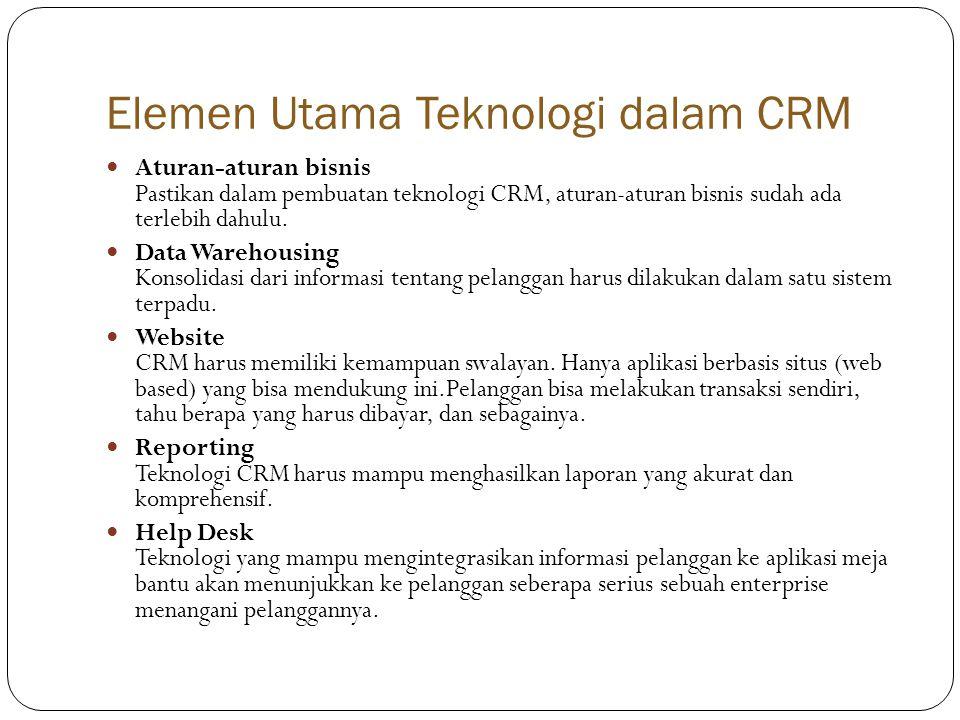 Elemen Utama Teknologi dalam CRM