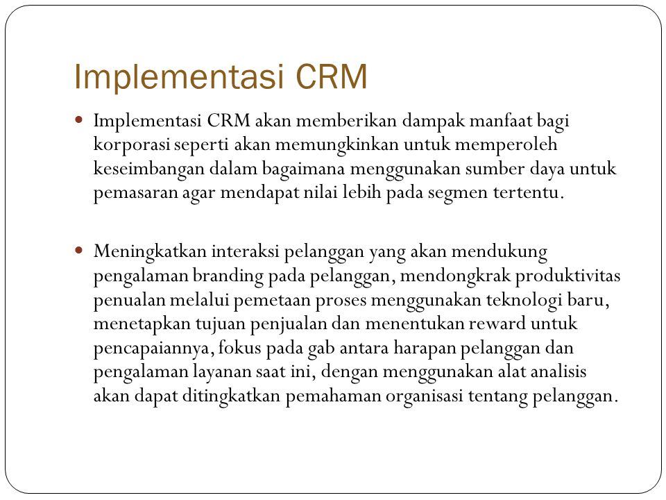 Implementasi CRM