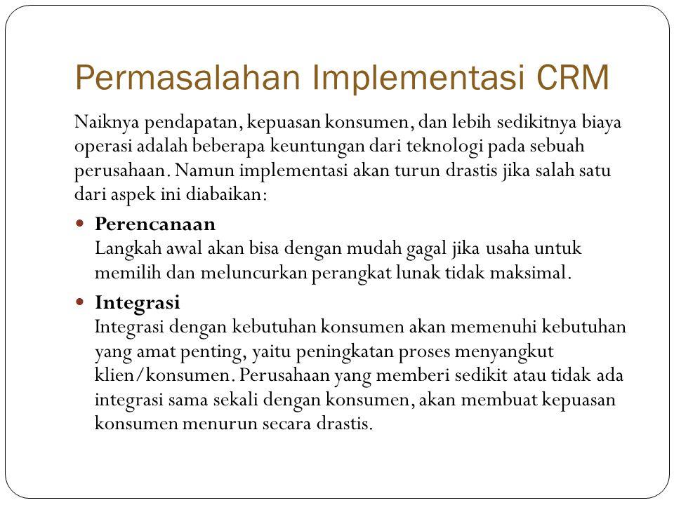 Permasalahan Implementasi CRM