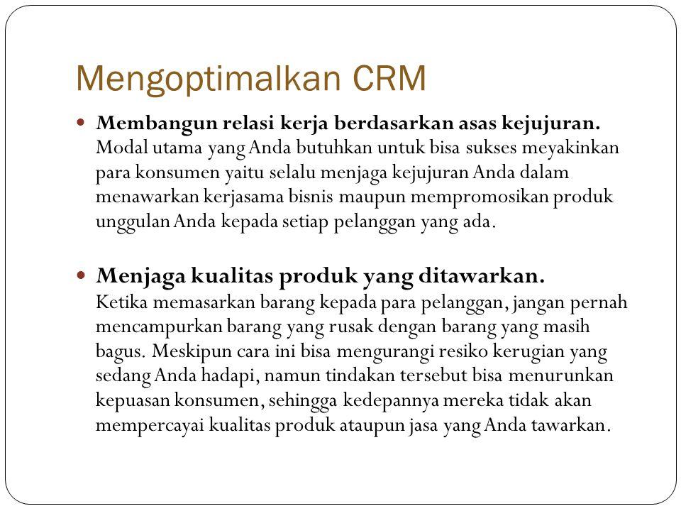 Mengoptimalkan CRM