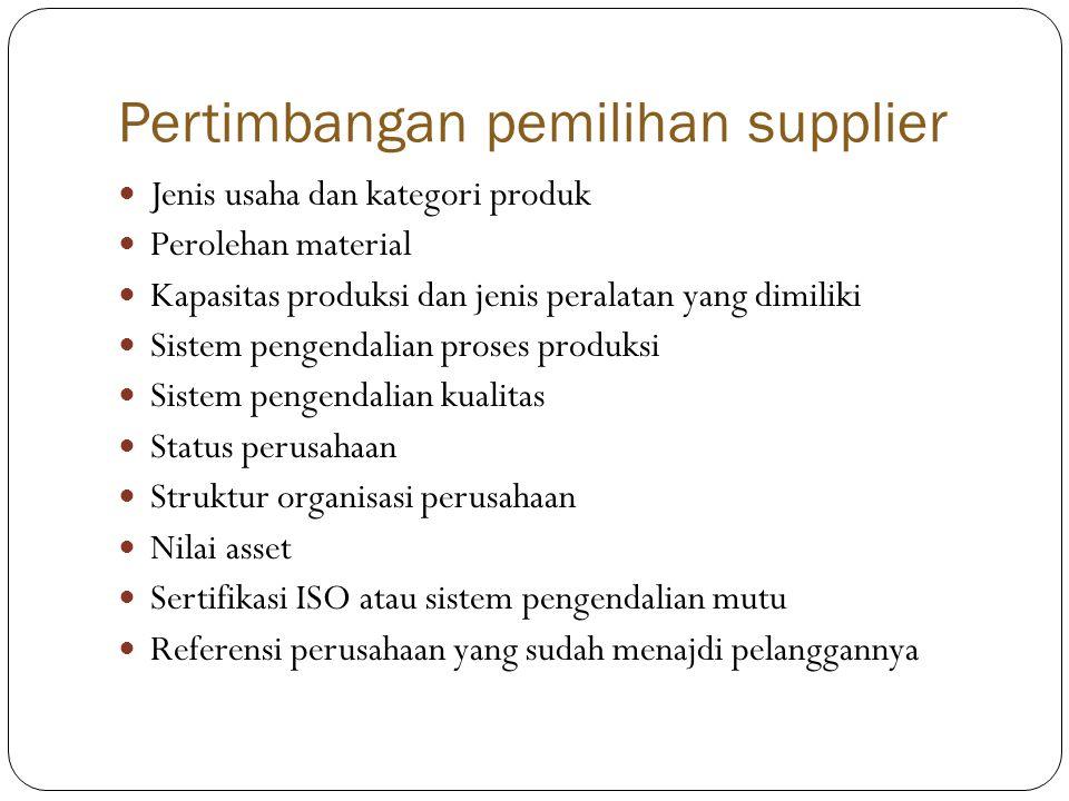Pertimbangan pemilihan supplier