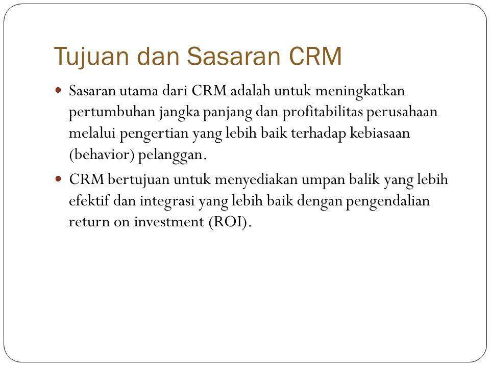 Tujuan dan Sasaran CRM