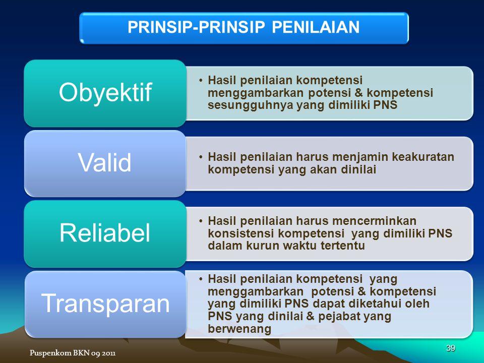 PRINSIP-PRINSIP PENILAIAN