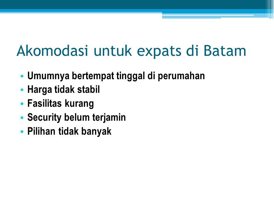Akomodasi untuk expats di Batam