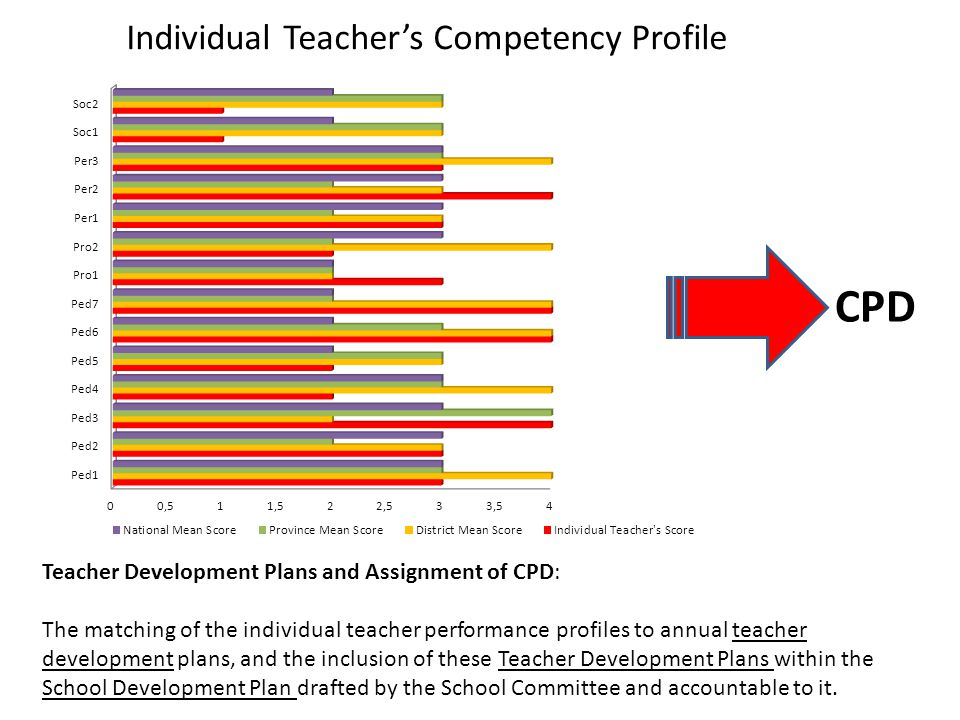 CPD Individual Teacher's Competency Profile