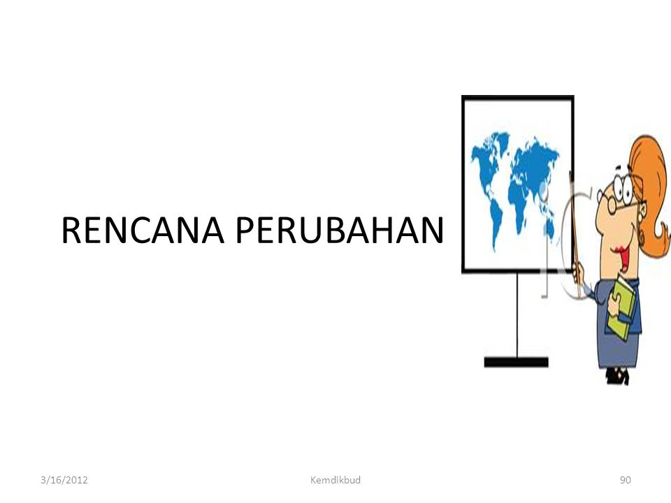 RENCANA PERUBAHAN 3/16/2012 Kemdikbud