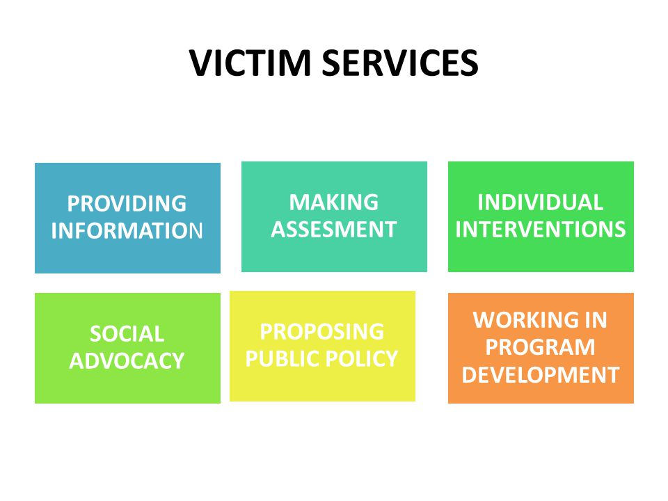 VICTIM SERVICES PROVIDING INFORMATION MAKING ASSESMENT