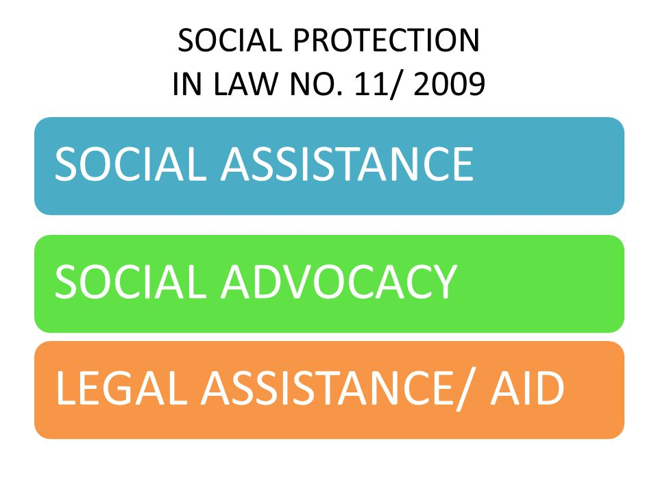 SOCIAL PROTECTION IN LAW NO. 11/ 2009