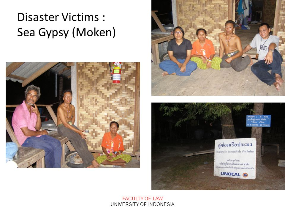 Disaster Victims : Sea Gypsy (Moken)